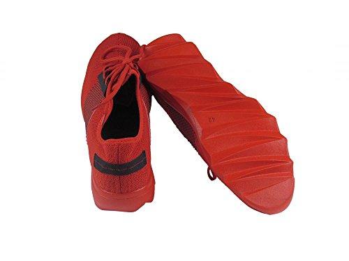 Sneaker - Wellensohle - rot