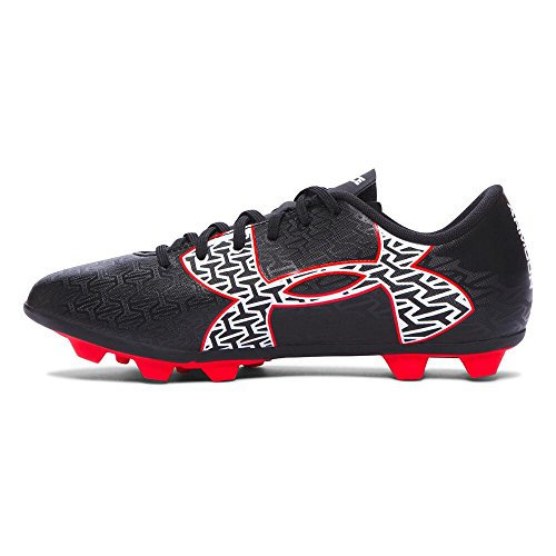 Under Armour Kids Unisex UA B CF Force 2.0 HG Jr. Soccer (Toddler/Little Kid/Big Kid) Black/Rocket Red/White Sneaker 5 Big Kid M by Under Armour