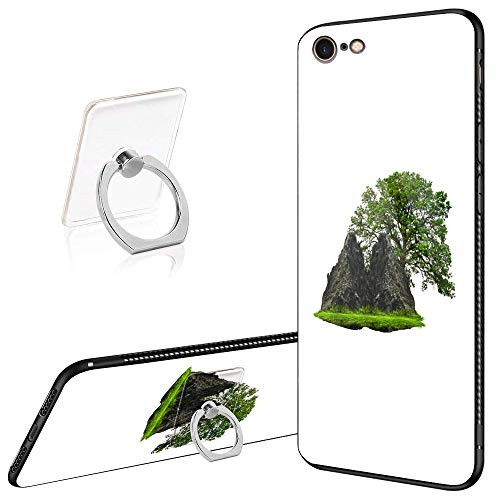 iPhone 6 Case,iPhone 6s Cases Tempered Glass Pattern Painted Floating Island Cover for iPhone 6/6s
