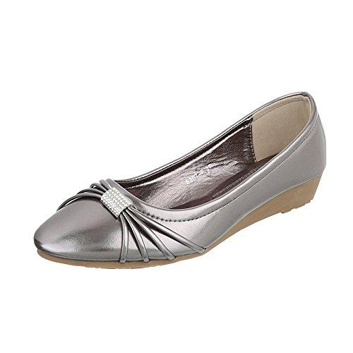 Ital-Design - Plataforma Mujer gris plateado