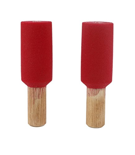 2'' Horizontal Peg Board Pipes (Set Of 2) | Climbing Holds | Red by Atomik Climbing Holds