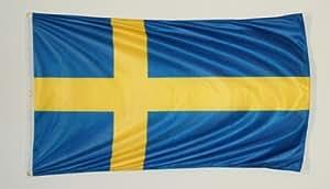 reforzados plástico Calidad 90x 150cm con 3ojales–Bandera de Suecia Bandera
