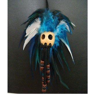 Black and White Ikaika Warrior Helmet Hawaiian Blue