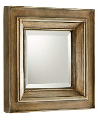 Silver Oxide 18 x 18 Barclay Square Wood Frame Mirror