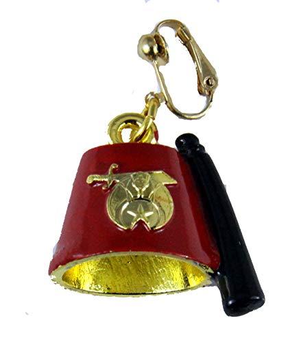 Mens Fez - The Quiet Witness 4031878 Single Shrine Clip On Earring Fez Shriner Unisex Jewelry Fezz