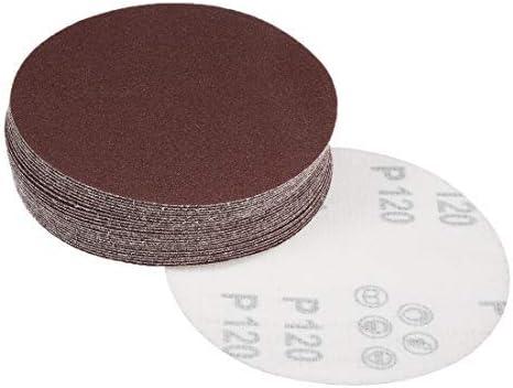 - 5-inch sanding disc, 120 grains, aluminum oxide sandpaper for 25 pieces sanders