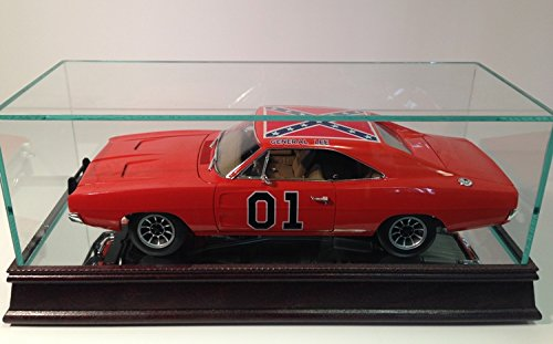 The 1:18 Scale Glass and Wood Display Case for Scale Model ()