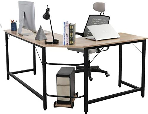 Modern L-Shaped Desk Industrial Easy-to-Assemble