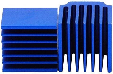 Printeraccessoires 10 stks 3D Printer Onderdelen Blauw Aluminium Stepper Driver Heatsink Voor TMC2100 LV8729 TMC2208 TMC2130 Kleur Blauw ColorBlue