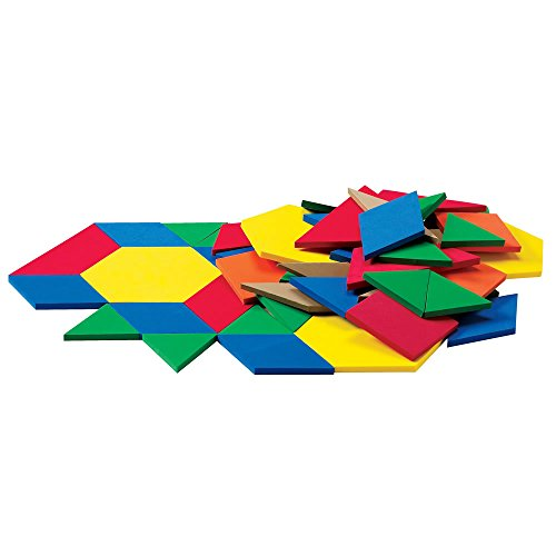 Tangram Floor (ETA Hand2Mind Giant ManipuLite Foam Floor Pattern Blocks, Set of 49)