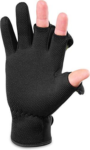 Anglerhandschuhe Winterhandschuhe 3 mm Titanium-Neopren umklappbare Fingerkuppen