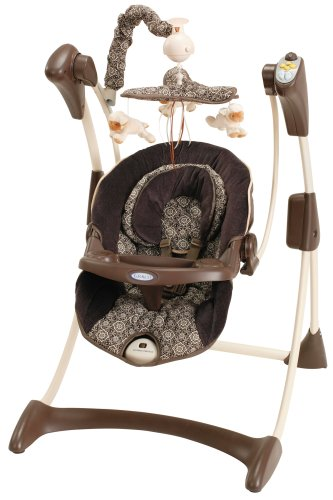 00ef4a6385d Amazon.com   Graco Baby Silhouette Infant Swing in Kasbah   Stationary Baby  Swings   Baby
