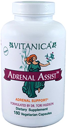 Vitanica - Adrenal Assist - Adrenal Support - 180 Vegetarian Capsules by Vitanica