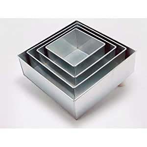 Euro Tins Moldes cuadrados para hacer tartas (4 pisos)