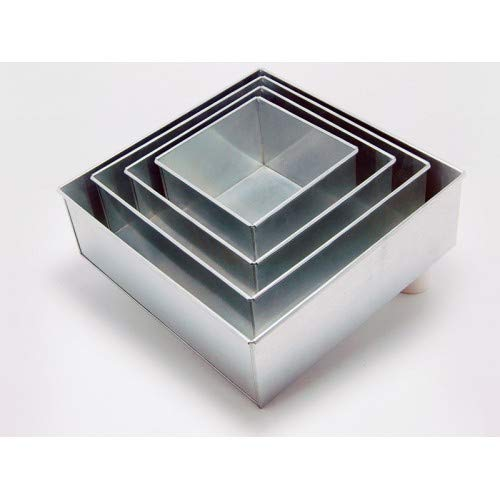 4 Tier Square Multilayer Wedding Birthday Anniversary Baking Cake Tins Cake Pans 6