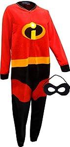 Disney Pixar The Incredibles 2 Holiday Family Sleep Matching Onesie Pajama with Mask (M Mom)