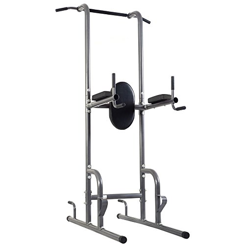 Youzee Dip Station Chin Up Tower Rack Pull Up Weight Stand Bar Raise Workout Home Gym by Youzee