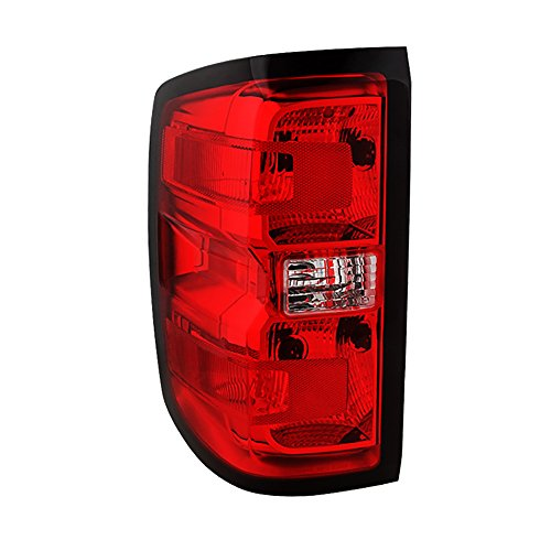 VIPMotoZ 2014-2016 Chevrolet Silverado 1500 2500HD 3500HD Tail Lights - [Factory Style] - Rosso Red Housing, Driver Side