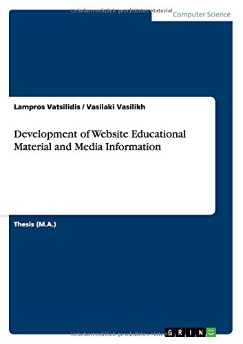 Download Development of Website Educational Material and Media Information (Greek Edition) PDF