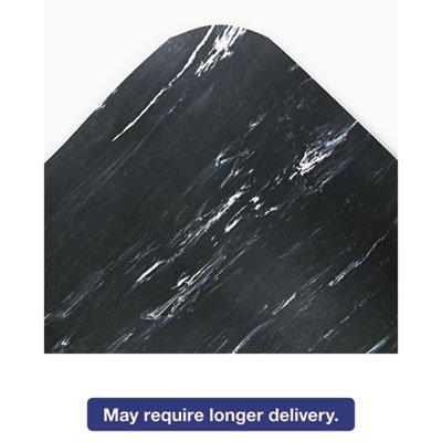 Cushion-Step Surface Mat, 36 x 72, Marbleized Rubber, Black, Sold as 1 ()