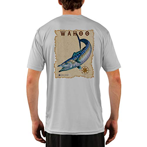- Altered Latitudes Maritime Destinations Wahoo Men's UPF 50+ Short Sleeve T-Shirt X-Large Pearl Grey