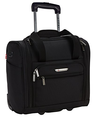 "Price comparison product image TPRC 15"" Under Plane Seat ""The Rafael"" Luggage Made of Top Durable Fabric Constructed for Millions of Travel Miles,  Black Color Option"