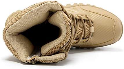人工皮革レースアップウォームアウトドアシューズフェイクファー男性ハイキングのための雪のブーツは、冬の滑り止め寒冷シューズを裏地 (色 : 黄, サイズ : 25.5 CM)