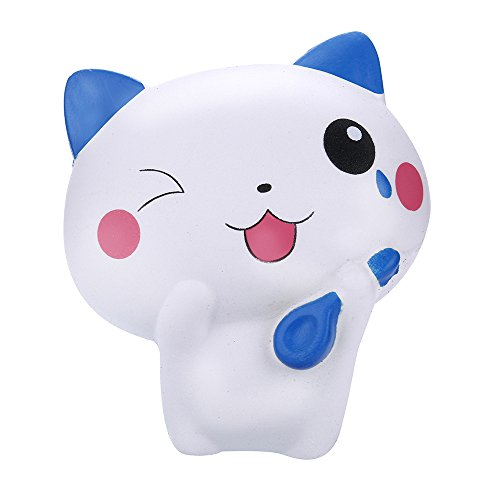Squishes Toys , Elevin(TM) Kawaii Squeeze Squishy Slow Rising Jumbo Giant Scented Cartoon Cute Animals Cat Stress Reliever Toy (Blue)]()