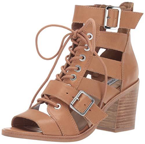 Steve Madden Women's Jackson Heeled Sandal, Natural Leather, 6 M US