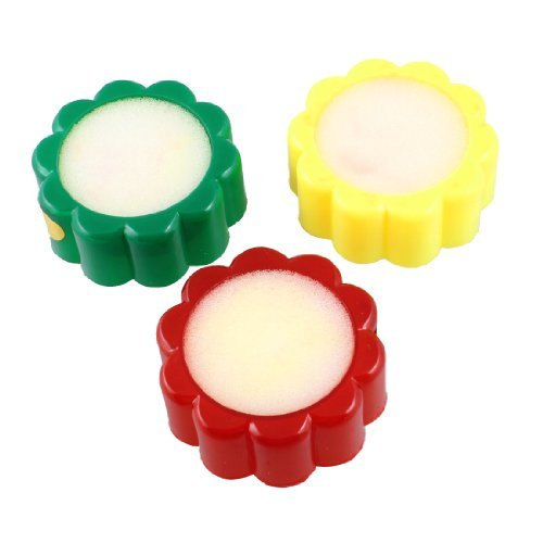 eDealMax Boîtier en Plastique Fleur de doigt en Forme de dispositif humide, 3 pièces, Tri Couleur