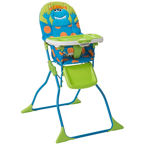 Cosco Simple Fold Deluxe High Chair with 3-Position Tray (Monster Syd) from Cosco