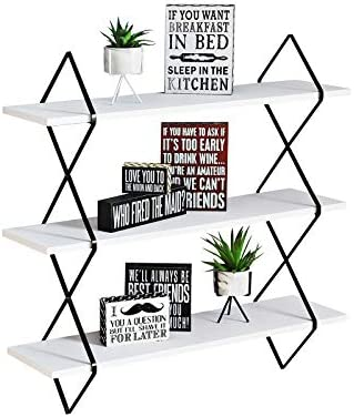 WELLAND Floating Display Wall Mount Hanging Shelves 31 1 2 Inches