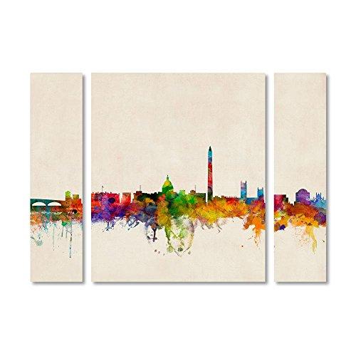"Trademark Fine Art MT0427-3PC-SET-LG ""Washington Skyline by"