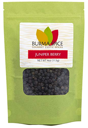 Whole Juniper Berries | Kosher Certified | Perfect for tea, gin and cooking | (4 Oz.)