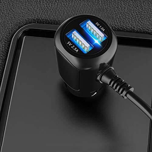 Car Charger for Garmin Nuvi,Garmin automobile Charger,Garmin nuvi automobile Charger,Garmin GPS Charger Cable,Mini USB Power Cord Cable Dual Port USB Vehicle Power Charging Cable Cord for Garmin Nuvi C255 Dashcam