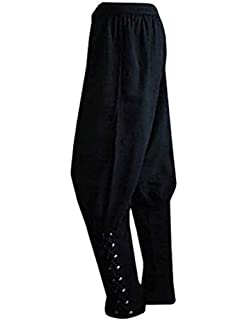 9d45a2ab6644 Bbalizko Men's Ankle Cuff Renaissance Pants Medieval Viking Navigator  Trousers with Drawstrings