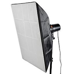 CowboyStudio Photo Studio Monolight Flash Lighting Kit - 3 Studio Flash/Strobe, 2 Softboxes, 1 Background Support System, 10 x 13 feet Muslin Backdrop and Carry Case