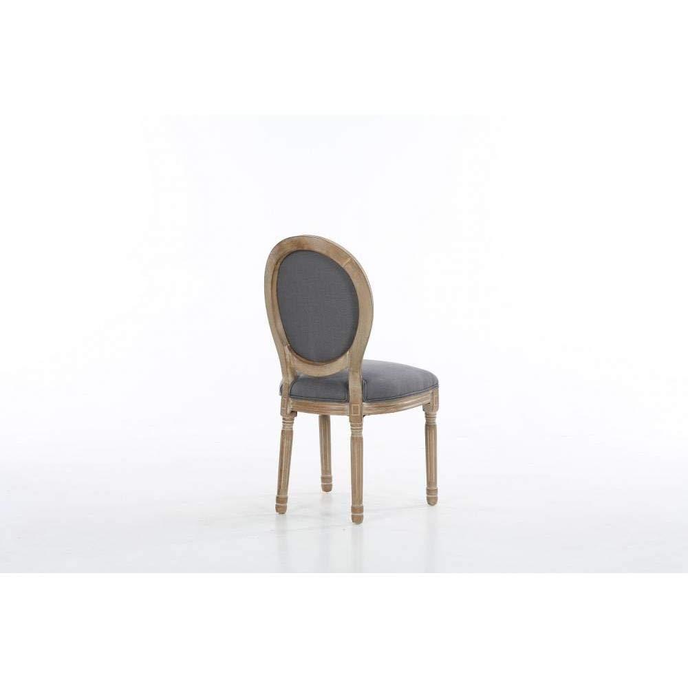 INSIDE Lot De 6 Chaises Medaillon Versailles Style Louis XVI Lin Gris Amazonfr Cuisine Maison
