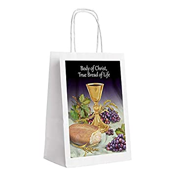 Amazon.com: Bolsa de regalo para primera comunión para niños ...