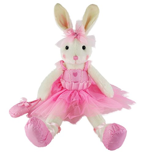 (WEWILL Ballerina Bunny Stuffed Animal Original Adorable Soft Plush Toys Rabbit Doll, Christmas Festivals Birthday Gift for Girls, 23-Inch (Pink))