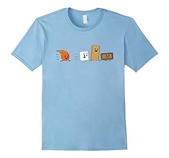 Mens Funny Camping Shirt: Smores T-Shirt funny sarcastic novelty 2XL Baby Blue
