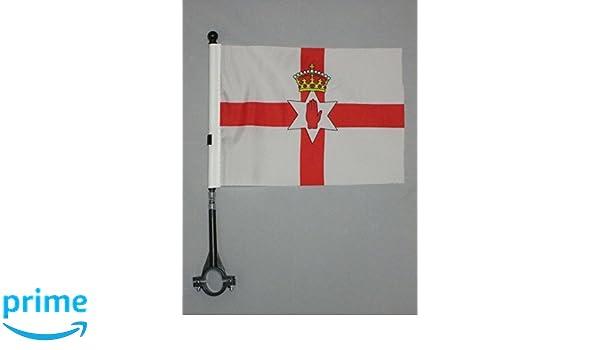 Black And IRISH DESK FLAG 21 X 14 Cm NORTHERN IRELAND TABLE FLAG 5/'/' X 8/'/'