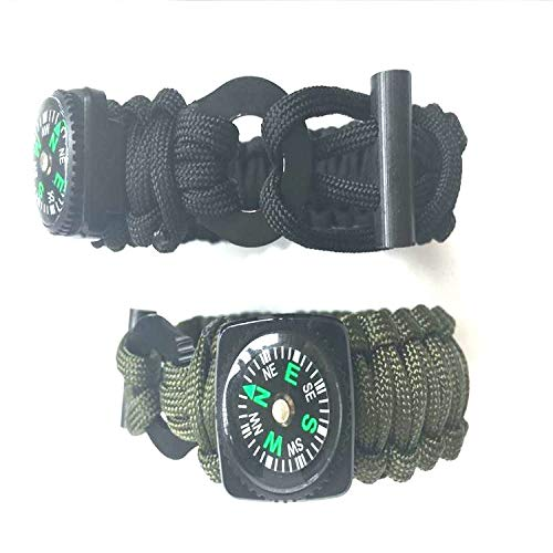 Glumes Survival Bracelet Watch, Survival Paracord Bracelet, Compass for Camping, Climbing, Waterproof Gift for Boys by Glumes (Image #4)