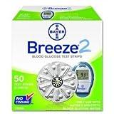Bayer's Breeze®2 Blood Glucose Test Strips-Program Retail - Box of 50