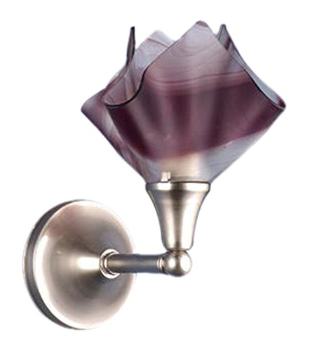 (Meyda Tiffany 72455 Chambord Swirl Handkerchief Fused Glass Wall Sconce, 9