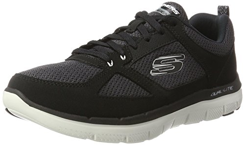 Skechers Flex Advantage 2.0, Scarpe Running Uomo Nero (Black/White)