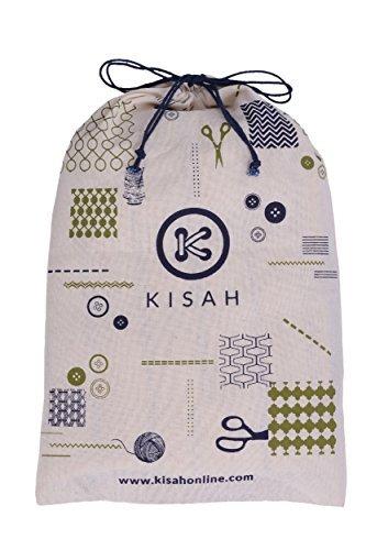 KISAH Men's Teal Blue Dupion Silk Solid Kurta Churidar Set by KISAH (Image #6)