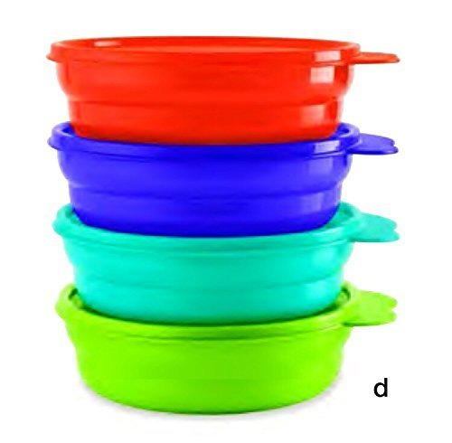 (Tupperware Microwave Cereal Bowls in Cool Aqua/Grape Fizz/Hot Pepper/Lime)