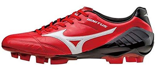 Mizuno Wave Ignitus 4KL Fútbol guantes Premium Piel Rojo de Negro