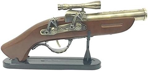 PENG Holzgriff Pistolen militärisches Simulationsmodell des großen aufblasbaren Metallfeuerzeuges kreative Heimtextilien-Kollektion